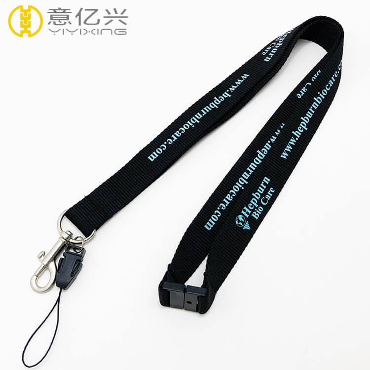 Hot Sell Personalized Silkscreen Polyester Materials Phone Lanyard