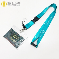 High Quality Silkscreen Printing Logo Nylon Lanyard Card Holder