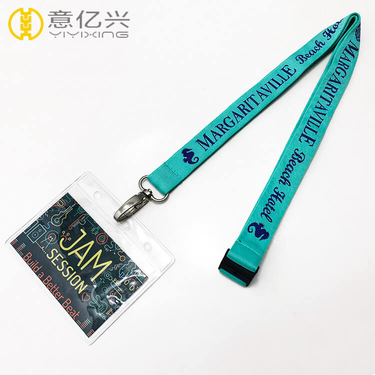 Personalised custom logo jacquard lanyard id holder
