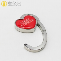New Folding Customized Heart-shaped Metal Hanging Bag Holder