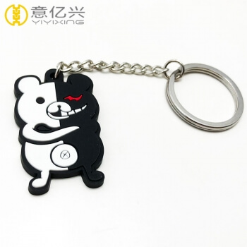 Personalized logo design cheap 3D rubber keyring
