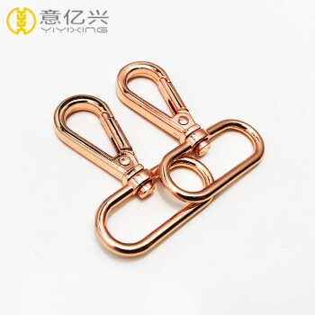 2019 new product double rose gold metal snap hooks for clothes