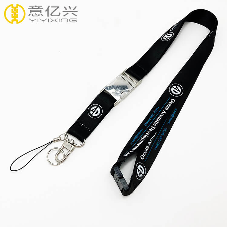 Wholesale metal breakaway custom made lanyards strap