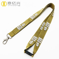 2019 Cheap silkscreen printed safety lanyard with personalized hook