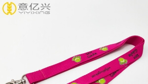 Custom cheap silk-screen printing polyester cute lanyards