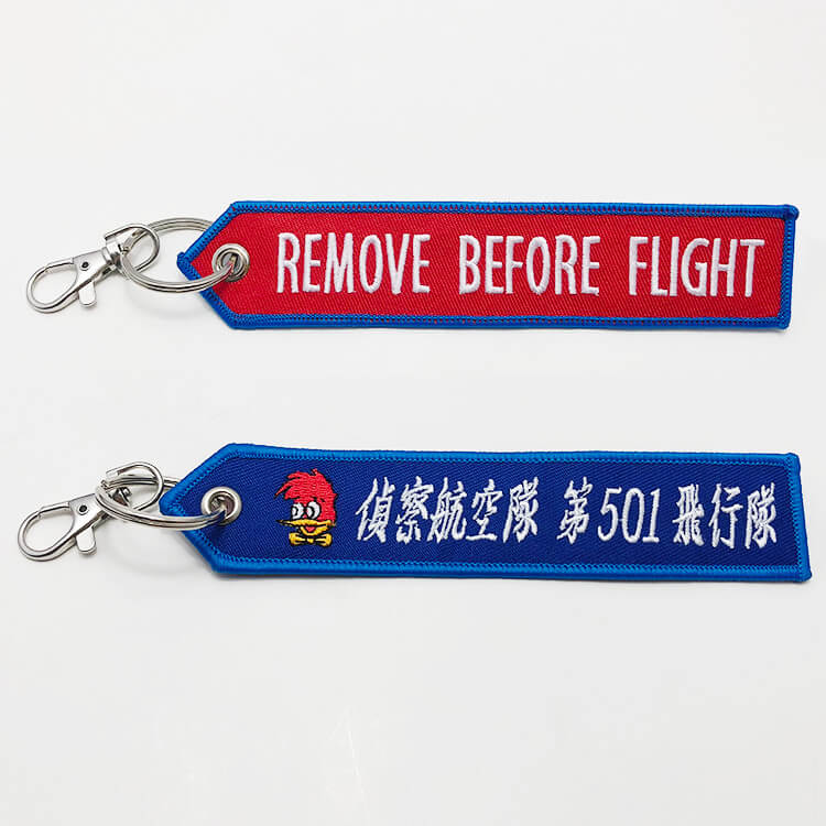 flight tag keychains