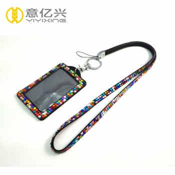 Wholesale colorful bling lanyards sparkly badge holder
