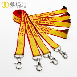 Wholesale custom double sided jacquard logo personalised lanyard