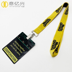 New style design your own name lanyard and card holder