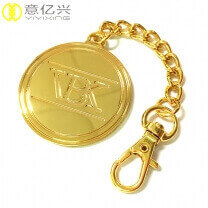 Custom detachable gold metal keychain design
