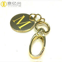 Custom luxury stylish metal letter keychain charms