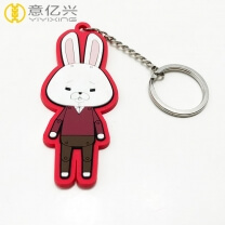 Custom logo personalized rubber keychains for Advertising Event