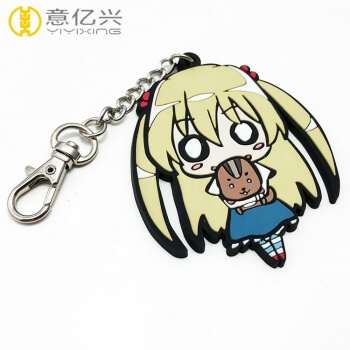 cheap rubber keyring