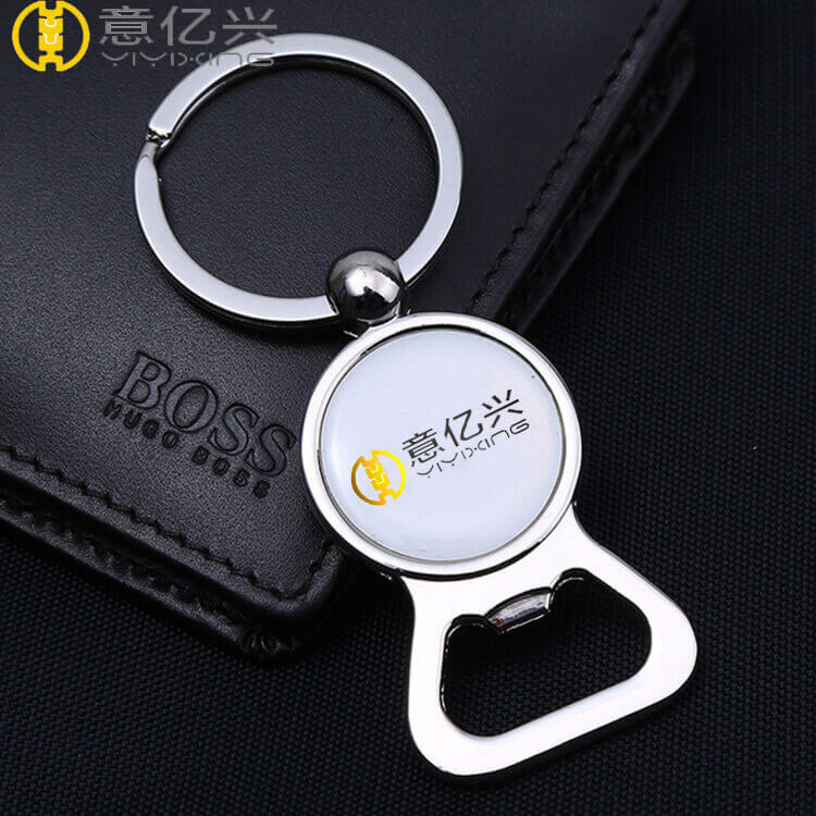 Wholesale custom logo 2d company keyring bottle opener