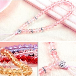 Do you know that there is such a lanyard keychain? Crystal necklace