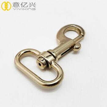 Light gold 1 inch metal swivel hook swivel clip supplier