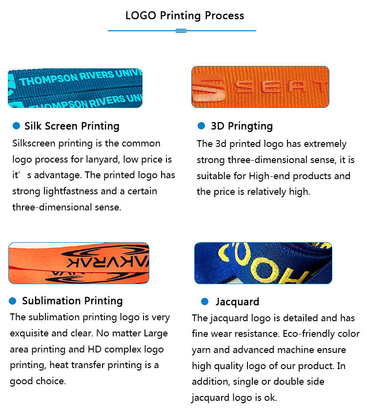 lanyards for women logo printing process