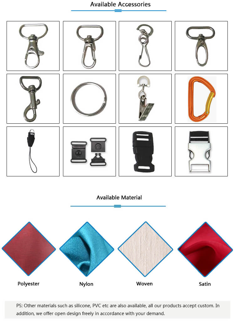design your own lanyard available accessories