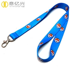 Classic anime custom heated transfer cute lanyard for keys
