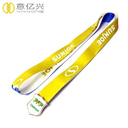 Free design of custom made brand name badge lanyards