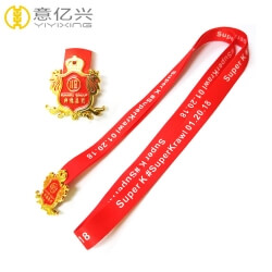 Wholesale Polyester Material Custom Logo Neck Strap Lanyard Tag