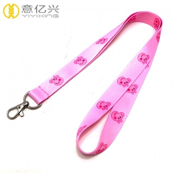 Customized Eco-friendly pink fashionable cute lanyards with any logo