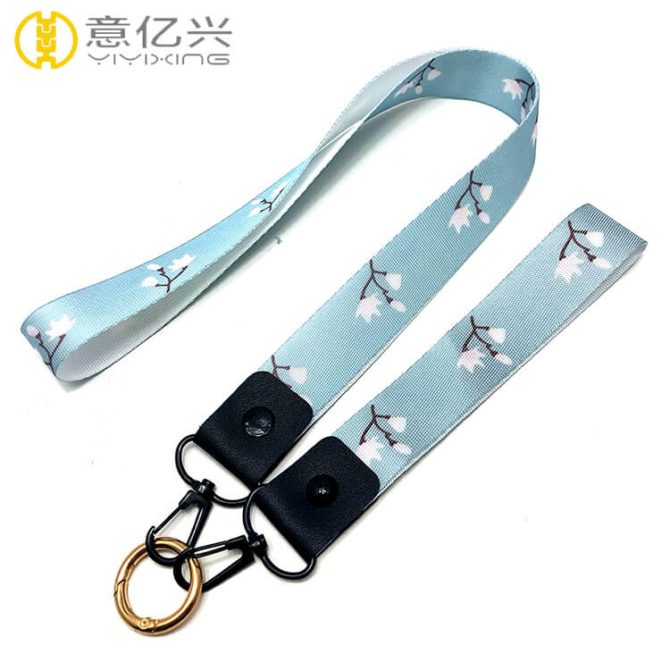 China supplier custom lanyard keychain with detachable short lanyard