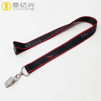 Wholesale Polyester Black Rope Sublimation Lanyard Clips