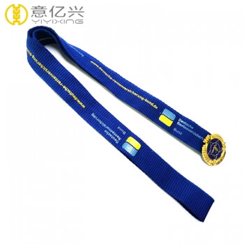Promotion School Name Silkscreen LOGO Custom Design Lanyard Tag