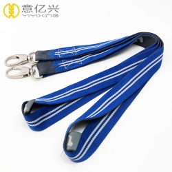 Wholesale personalized woven id badge lanyard with logo custom