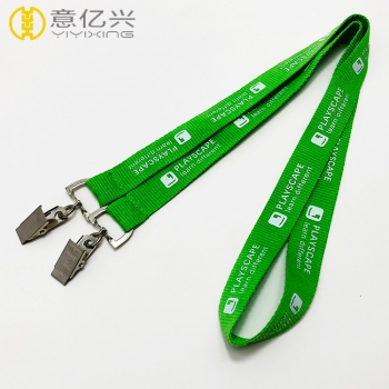 Hot selling custom polyester lanyard clip with logo