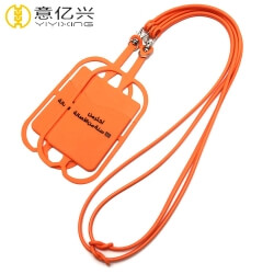 hot sell custom silicone cell phone lanyard holder