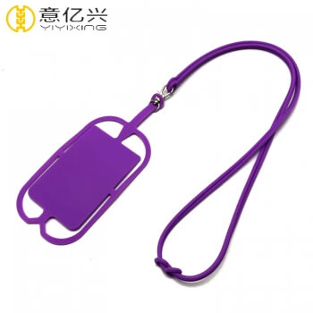 silicone cell phone lanyard