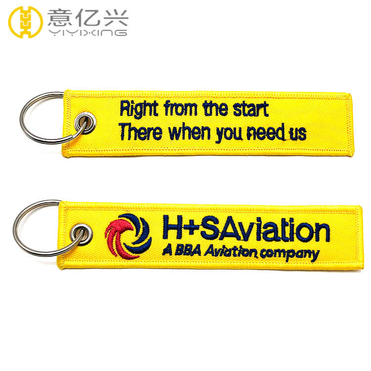 Custom Fabric Embroidery Factory Design Your Own Keychain