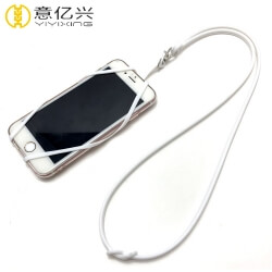 2019 Best selling mobile phone neck strap silicone lanyard