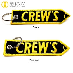 China factory custom embroidery key tag create your own keychain