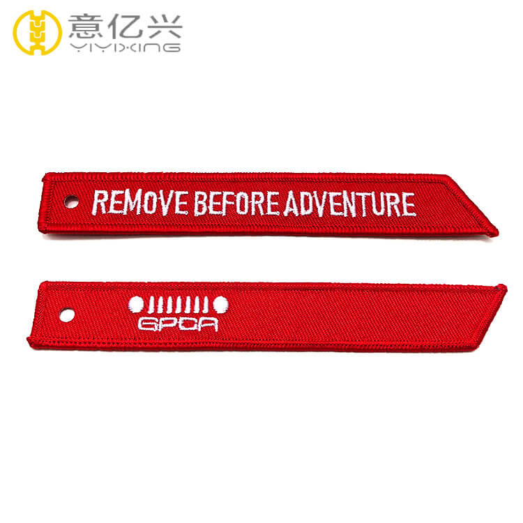 Double side print embroidery logo personalized remove before flight tags