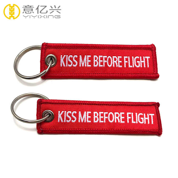 remove before flight ribbon keychain