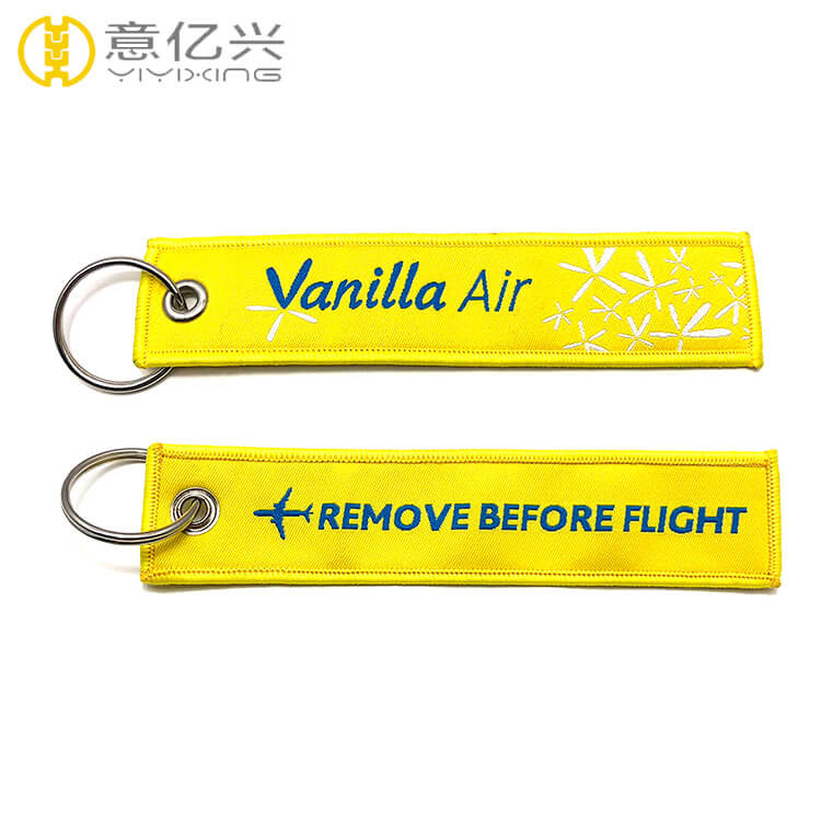 Wholesale woven key holders custom flight tag Canada keychain