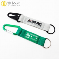Manufacturer wholesale cheap carabiner clip keychain with short strap