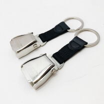 2019 Unique designer airline airplane seatbelt buckle keychain