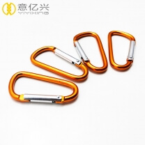 Hot Sale Aluminum D Type Metal Carabiner Snap Spring Hook