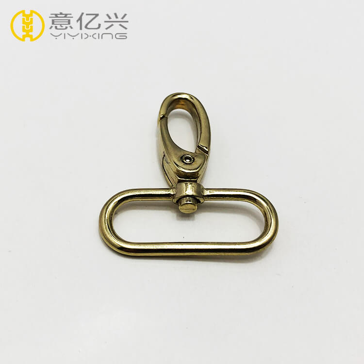 High quality bag accessory metal oval shaped brass snap hook