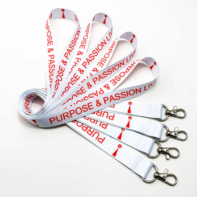 Hot sale sublimation printed event lanyard designs with trigger hook