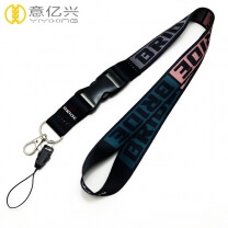 Polyester or nylon material custom sublimation phone lanyard