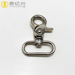 Fashion high quality shiny silver dog swivel clip snap hook