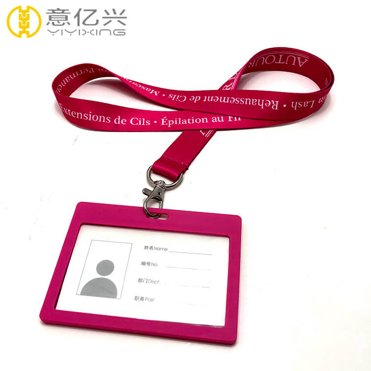 Customized Name Tag Lanyard with Card Holder in Various Colors
