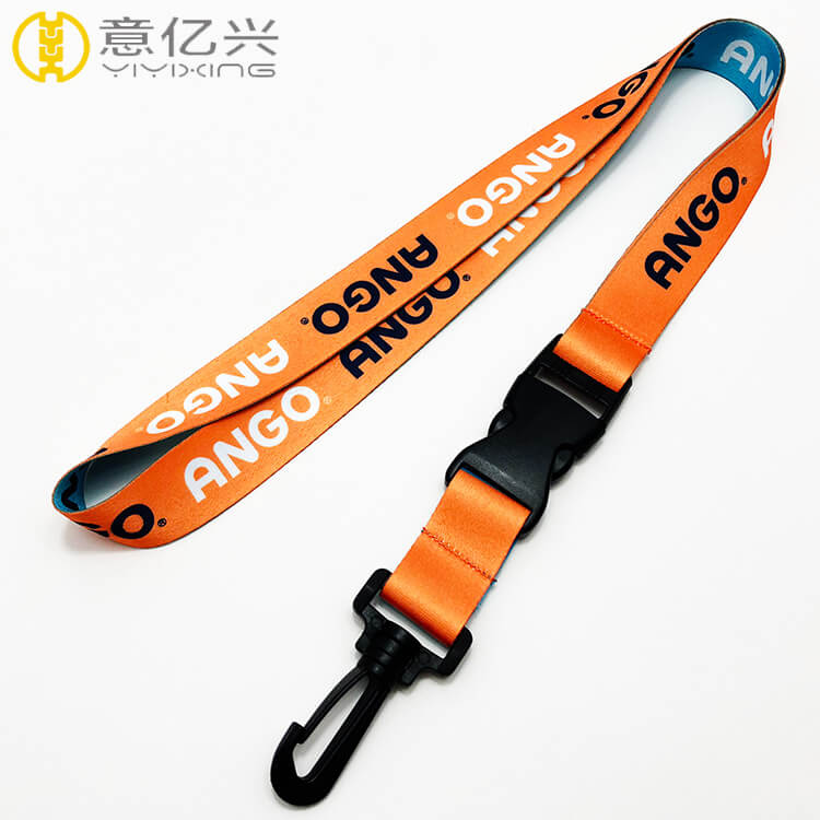 Printing machine printed sublimation lanyard for plastic hook