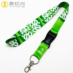 Wholesale soft polyester logo custom printed lanyards