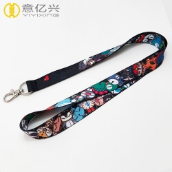 Custom smooth cartoon neck lanyards online for game company
